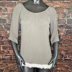 Crescent Stitch Fix Fringed Summer Top - Size S
